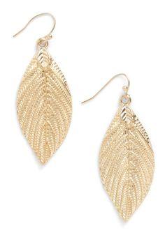 lovely leaf earrings
