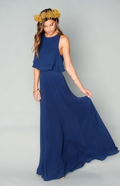 navy bridesmaid gown | Wedding & Party Ideas | 100 Layer Cake