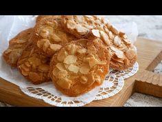 褒められクッキー♡アーモンドチュイル | Crispy♪ Almond tuile - YouTube Tuile Cookie Recipe, Almond Tuile Recipe, Almond Meal Cookies, Almond Recipes, Baking Recipes, Cookie Recipes, Snack Recipes, Dessert Recipes, Dessert Ideas