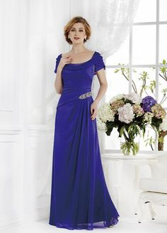 Mother of The Bride Dresses Scoop A-Line Chiffon