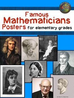This is a collection of eight single page posters of famous mathematicians.  Each poster includes a picture of the mathematician and a short description of his/her contributions written for elementary students. When hung in the classroom these posters can be viewed by the students and referred to  throughout the year as different topics arise when teaching the Next Generation Science Standards or Math Standards.