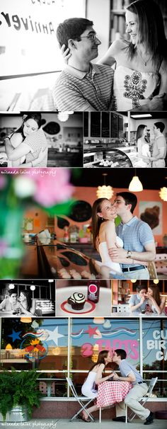 Engagement shoot @2tarts Bakery by: http://www.mirandalainephotography.com/blog/new-braunfels-engagement-session/