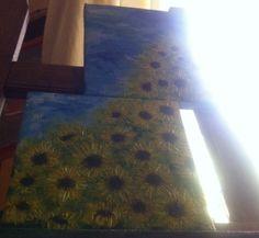 acrylic painting - sunflower