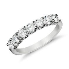 Luna Seven-Stone Diamond Ring in 14k White Gold (1 ct. tw.)
