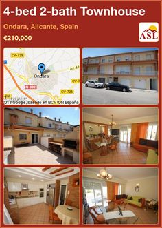 4-bed 2-bath Townhouse in Ondara, Alicante, Spain ►€210,000 #PropertyForSaleInSpain