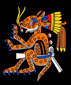 Tepeyollotl - Aztec god of the mountains, jaguars, and echoes.