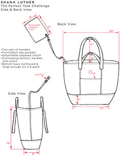 Risultato immagini per tutorial cabas reversibles Diy Bags Purses, Diy Purse, Tote Purse, Leather Bags Handmade, Handmade Bags, Leather Craft, Drawing Bag, Leather Bag Pattern, Bag Patterns To Sew