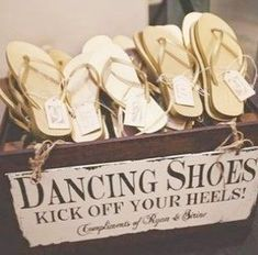 I literally need this in every function I have ever had to wear high heels to ever. Tearing up the dance floor in flip flops > falling on my butt in heels - I literally need this in every function I have ever had to wear high heels to ev. Beach Wedding Favors, Personalized Wedding Favors, Wedding Favors For Guests, Unique Wedding Favors, Unique Weddings, Wedding Shoes, Wedding Decorations, Wedding Dancing Shoes, Destination Wedding