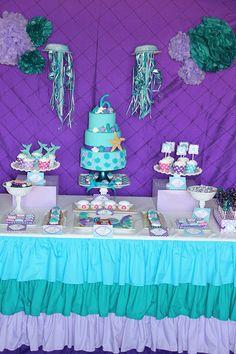 Tessa's Ariel Inspired Birthday Party ariel birthday #mermaid Little Mermaid  Mermaid birthday party girls first birthday party party decorations printables