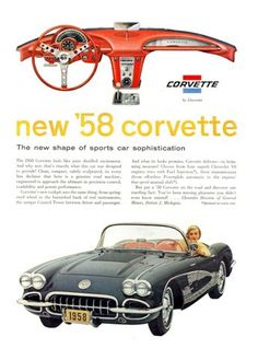 1958 Chevrolet Corvette Ad