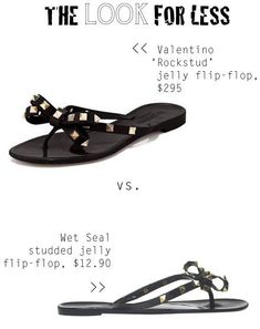 91502ee523ef The Look for Less  Valentino  Rockstud  Jelly Flip-Flop Sandal - The Budget  Babe
