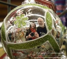 www.PattyStamps.com - fun photo tip:  capture yourself in the reflection of a Christmas ornament!