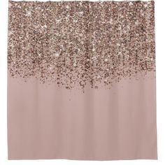 Shop Taupe Blush Pink Rose Gold Bronze Glitter Glam Shower Curtain created by printabledigidesigns. Rose Gold Curtains, Glitter Curtains, Sequin Shower Curtain, Custom Shower Curtains, Dusty Pink, Blush Pink, How To Make Glitter, Glitter Canvas, Bronze