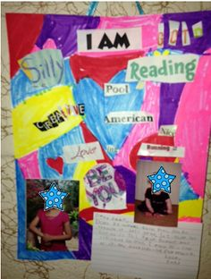 Fun beginning of the year activity. I am collages. Great way to get to know your students better. They could also share these in front of the class.
