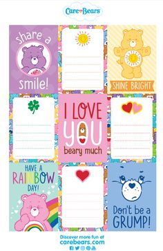 http://www.agkidzone.com/care-bears/activities/care-bears-lunchbox-notes/3446968