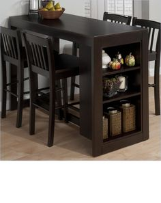 Bestia Albuquerque bar height table with a storage