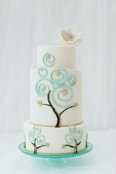Jewelry accented cake