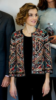 Queen Letizia of Spain attends a meeting with ambassadors of the Spanish Brand at Auditorio Ciudad BBVA on November 12, 2015 in Madrid, Spain.