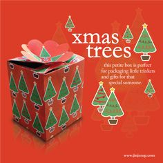 DIY Christmas trees box - free printables in different colors
