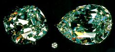 Cullinan I (right) and II with a 1 carat diamond for comparison.  Cullinan I is the 2nd largest cut diamond and the largest cut white diamond.