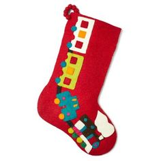 "Check out this item at One Kings Lane! 20"" Train Stocking, Red"