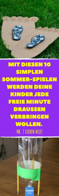 Mit diesen 10 simplen Sommer-Spielen werden deine Kinder jede freie Minute drau… With these 10 simple summer games, your kids will want to spend every free minute outdoors. Creative summer party games that not everyone knows. Summer Party Games, Easter Arts And Crafts, Holiday Games, Diy Crafts To Do, All Kids, Child Love, Craft Activities, Games For Kids, Children Games