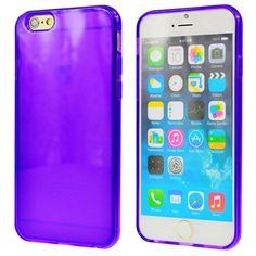 "CIKOO Ultra Thin Transparent Soft Rubber TPU Gel Cover Case Skin for iPhone 6 4.7"" (Purple)"