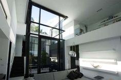 Black frame aluminium sliding doors