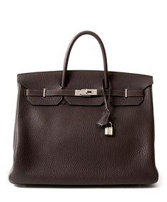 Hermès Birkin 40cm Chocolat Brown PHW + receipt