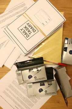 Diary study / cultural probe packs