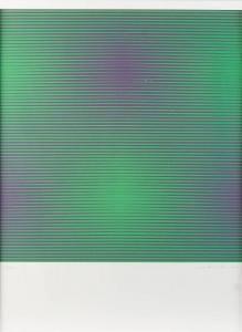 Getulio Alviani - Komposition In Grün Und Violett