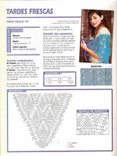 Delicadezas en crochet Gabriela: Tejidos crochet / Dos agujas / Paso a paso