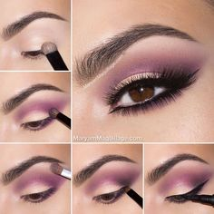 Beautiful purple eyeshadow look! | thebeautyspotqld.com.au