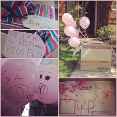 I'll ask you to prom when pigs fly. Promposal. Prom asking idea
