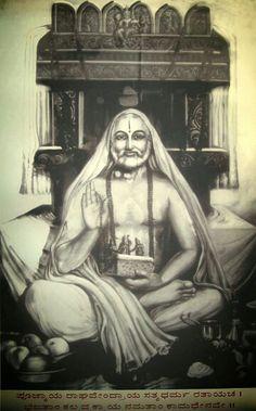 Raghavendraswamy Shri Yantra, Shri Hanuman, Shiva Hindu, Hindu Deities, Hinduism, Bhagwan Shri Krishna, Dancing Ganesha, Saints Of India, Lion Photography
