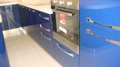 Mobila Bucatarie MDF Vopsit Albastru cu Alb cu Cuptor Electric HotPoint Ariston Kitchen Cabinets, Home Decor, Decoration Home, Room Decor, Cabinets, Home Interior Design, Dressers, Home Decoration, Kitchen Cupboards