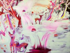 Katja Tukiainen, Beautifull world I, Oil and alkyd on canvas Pastel Colors, Landscape, Canvas, World, Pretty, Artist, Anime, Fun, Crafts