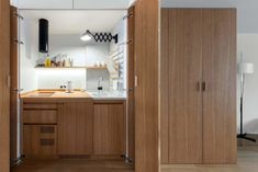 Kitchen in Moscow Apartment by Studio Bazi