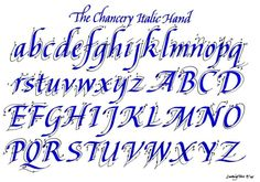 The Chancery Italic Hand