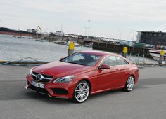 Mercedes E-Class Coupe, red