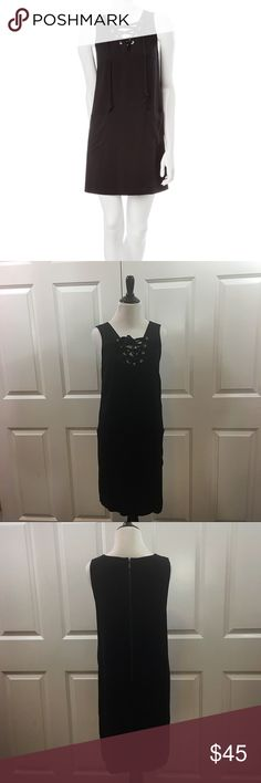 NWT Kensie Black Lace Up Dress NWT Kensie Black Lace Up Dress You'll love the playful style of this black lace-up dress by Kensie. Featuring a grommeted lace-up neckline & dual front pockets, this dress is ideal for a casual summer day. Pair with platform sandals to complete the look. * Sleeveless * V-neckline * Back zip closure * Above the knee length * Lace-up neck * Dual front pockets * 100% rayon * Machine washable * Made in the U.S.A. Pls see pics for measurements. No TRADES. Please use…