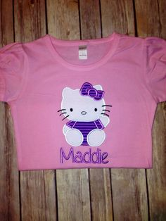 Hello Kitty Shirt by SewMacy on Etsy