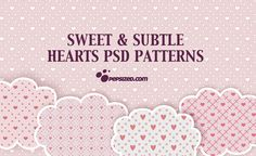 Sweet and Subtle Free Hearts PSD Patterns