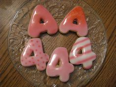 Airbrushed sugar cookies