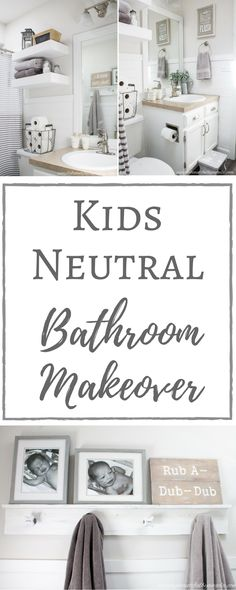 Simply Beautiful By Angela: Kids Neutral Bathroom
