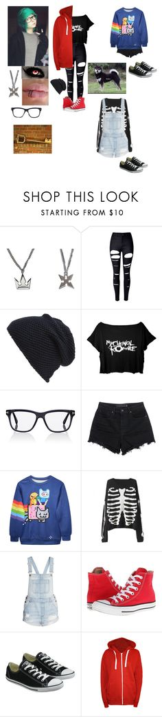 """Akari **Kingdom Hearts OC** -traverse town-"" by kark1tty ❤ liked on Polyvore featuring WithChic, Tasha, Tom Ford, Alexander Wang, H&M, Converse and WearAll"