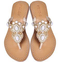 Egyptian Goddess Jeweled Sandals Mystique... WANT!