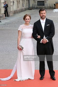 Lina Hellqvist and Jonas Frejd attend the royal wedding of Prince Carl Philip of Sweden and Sofia Hellqvist at The Royal Palace on June 13, 2015 in Stockholm, Sweden.