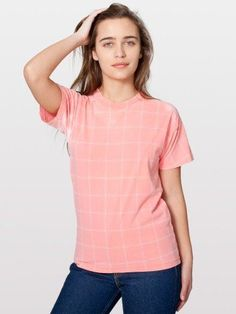 American Apparel Unisex Grid Print Thermochromatic T-Shirt American Apparel, Best Gifts, Tunic Tops, Grid, T Shirts For Women, Unisex, My Style, Sexy, Clothes