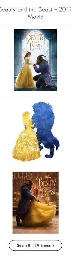 """""""Beauty and the Beast ~ 2017 Movie"""" by pwhiteaurora ❤ liked on Polyvore featuring home, home decor, disney, beauty and the beast, wall art, canvas wall art, canvas home decor, disney home decor, inspirational wall art and motivational wall art"""